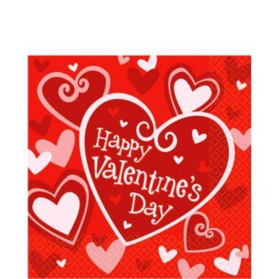 Be Mine Valentine's Day Lunch Napkins 16ct