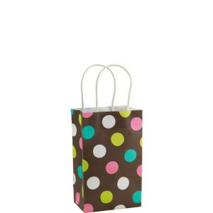 Dot Print Kraft Bag