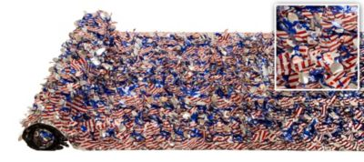 Stars & Stripes Metallic Floral Sheeting 15ft