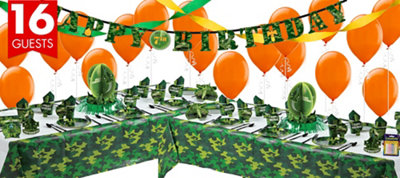 Camouflage Party Supplies Deluxe Party Kit