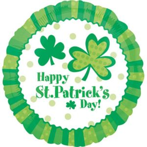 St. Patrick's Day Balloon - Shamrocks