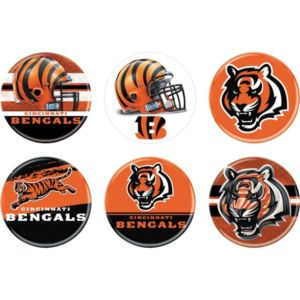 Cincinnati Bengals Buttons 6ct