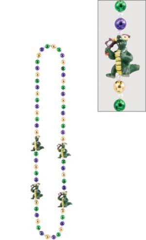 Gator Mardi Gras Bead Necklace