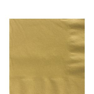 Big Party Pack Gold Lunch Napkins 125ct