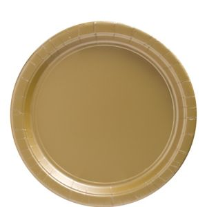Big Party Pack Gold Paper Lunch Plates 50ct