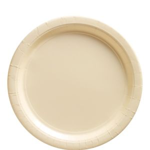 Vanilla Cream Paper Lunch Plates 50ct