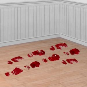 Bloody Footprint Cling Decals 10ct