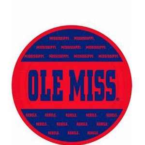 Ole Miss Rebels Dessert Plates 8ct