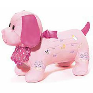 It's a Girl Baby Shower Autograph Plush Dog