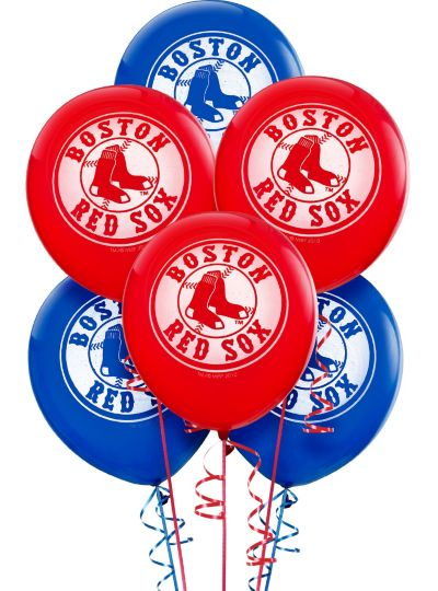 Boston Red Sox Latex Balloons 12in 6ct