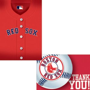 Boston Red Sox Invitations & Thank You Notes for 8