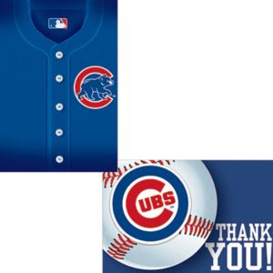 Chicago Cubs Invitations & Thank You Notes for 8