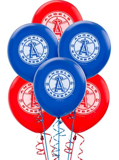 Los Angeles Angels Latex Balloons 12in 6ct