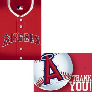 Los Angeles Angels Invitations & Thank You Notes for 8