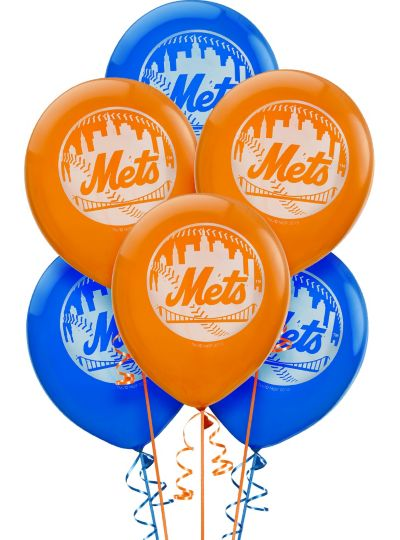 New York Mets  Latex Balloons 12in 6ct