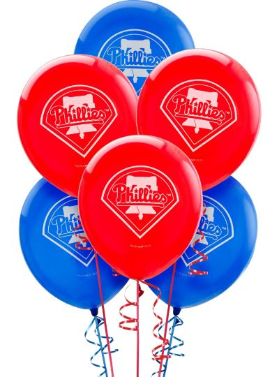 Philadelphia Phillies Latex Balloons 12in 6ct