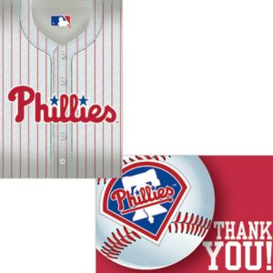 Philadelphia Phillies Invitations & Thank You Notes for 8