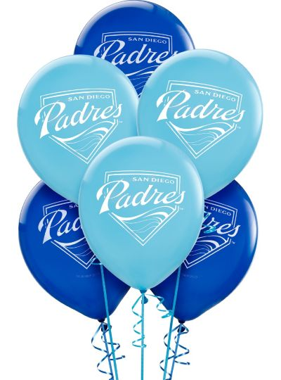 San Diego Padres Latex Balloons 12in 6ct