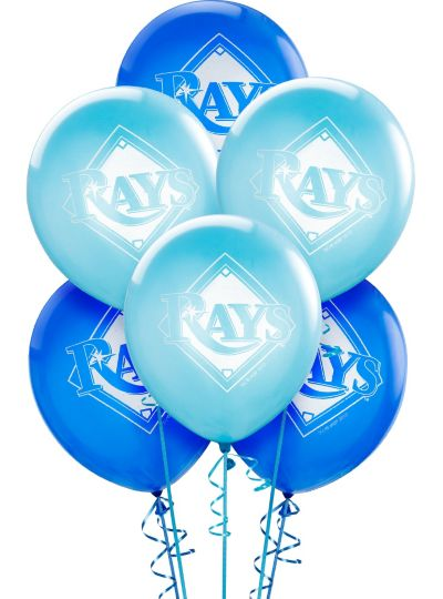 Tampa Bay Rays Latex Balloons 12in 6ct