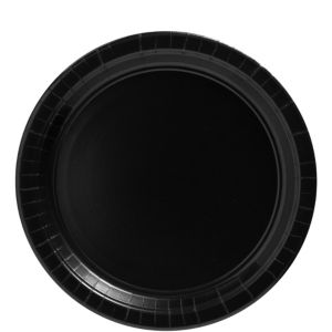 Black Paper Lunch Plates 20ct