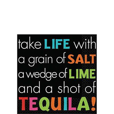 Tequila Beverage Napkins 16ct