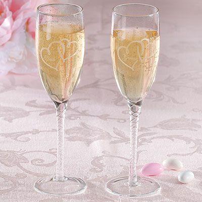 Formal Bride and Groom Wedding Toasting Glasses