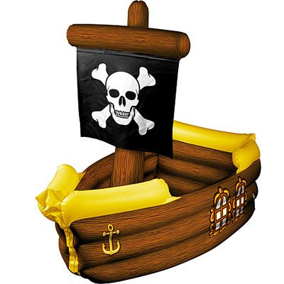 Inflatable Pirate Ship Cooler 41in