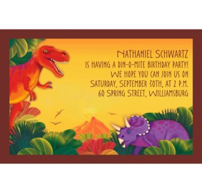 Custom Prehistoric Dinosaurs Invitations