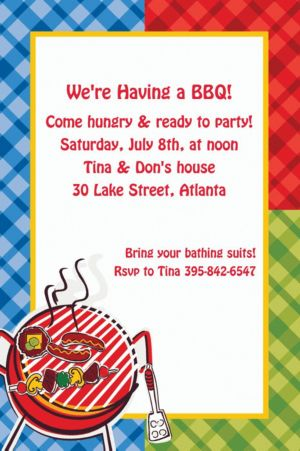 Custom Backyard BBQ Invitations