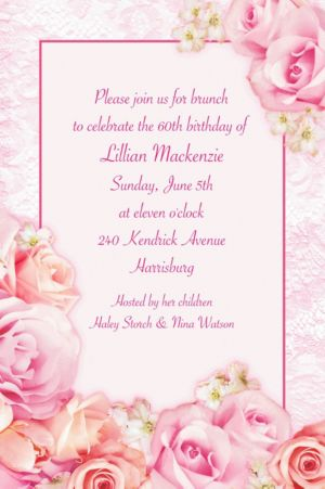 Custom Blossom Invitations