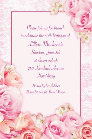 Custom Blossom Invitations