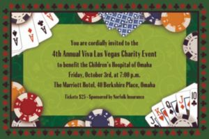 Custom Poker Party Invitations