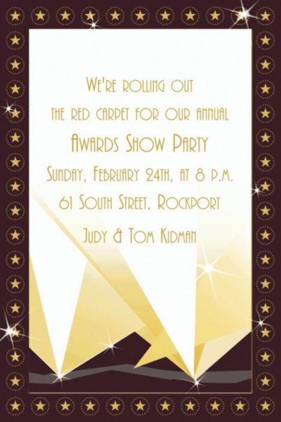 Custom Custom Hollywood Invitations