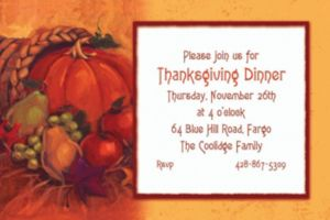 Custom Harvest Still Life Thanksgiving Invitations
