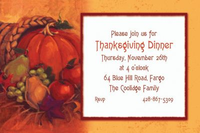 Harvest Still Life Custom Invitation
