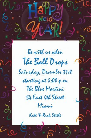 Custom Countdown Celebration New Year's Invitations