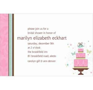 Custom Blushing Bride Bridal Shower Invitations