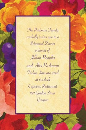 Custom Bright Blooms Invitations