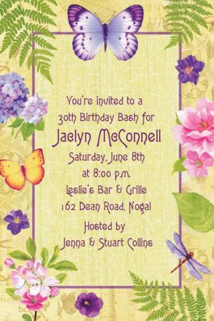 Custom In the Garden Invitations