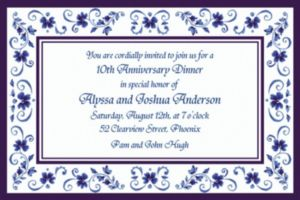 Custom Blue Provence Invitations