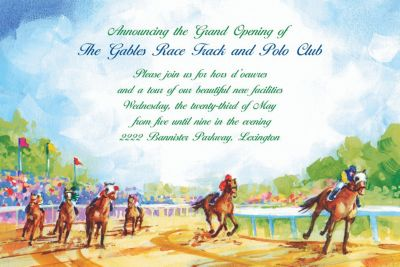 Custom At the Races Invitations