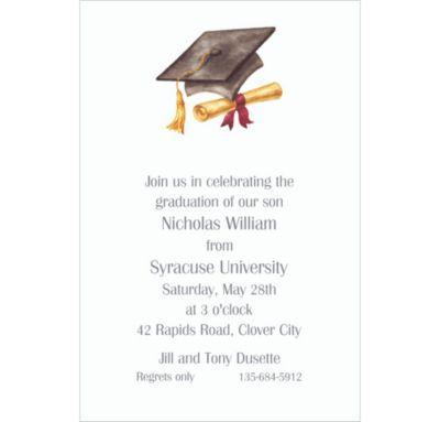 Cap & Diploma Black Custom Invitation