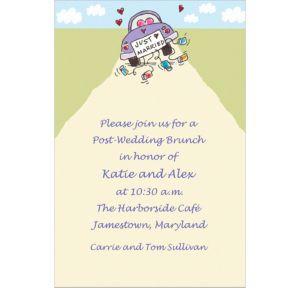 Custom Just Married Wedding Invitations