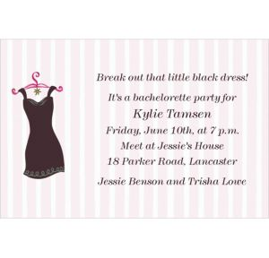 Custom Little Black Dress Invitations