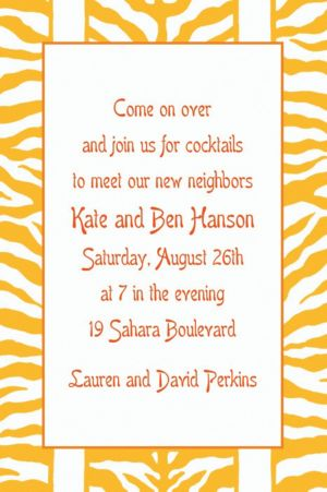 Custom Sunshine Zebra Stripe Invitations