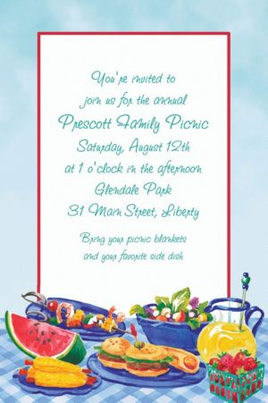 Custom Summer Picnic Invitations