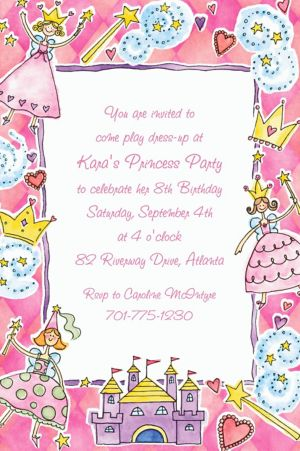 Custom Princess Party Invitations
