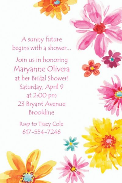 Custom Big Painterly Flowers Invitations