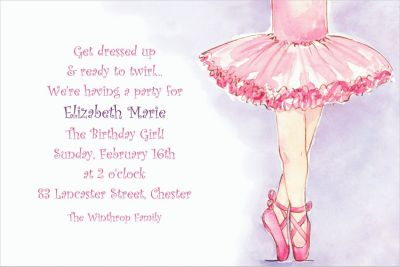Custom Little Ballerina Invitations