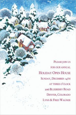 Custom Winter Wonderland Invitations